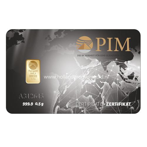 HPG Holland Premium Gold PIM Goudbaar 05 gram