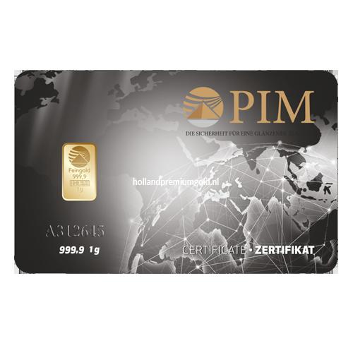 HPG Holland Premium Gold PIM Goudbaar 1 gram