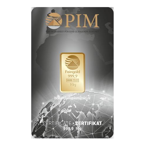 HPG Holland Premium Gold PIM Goudbaar 10 gram