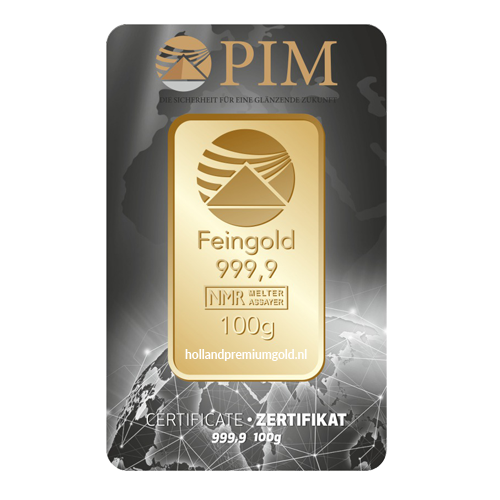 HPG Holland Premium Gold PIM Goudbaar 100 gram