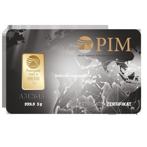 HPG Holland Premium Gold PIM Goudbaar 5 gram