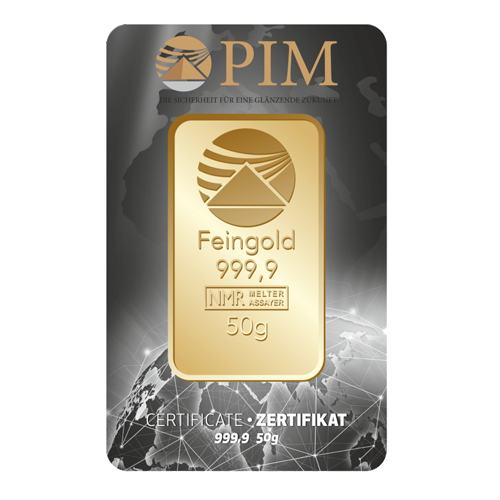 HPG Holland Premium Gold PIM Goudbaar 50 gram